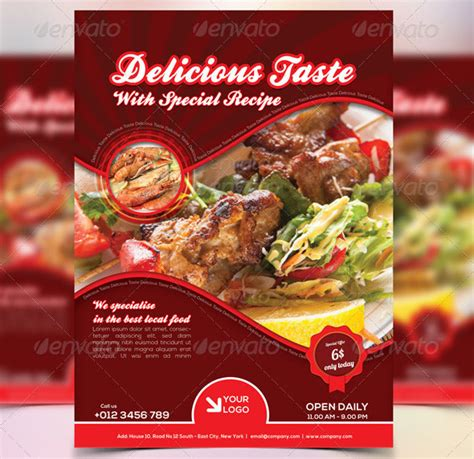 19 Free Premium Restaurant Flyer Templates Psd Desiznworld Food Flyers Templates