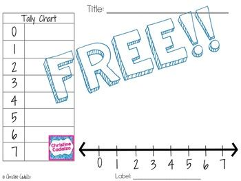 free line plot template by christine cadalzo teachers