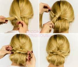 easy updos for hair step by step pictures easy updo hairstyle tutorial easy updo hair