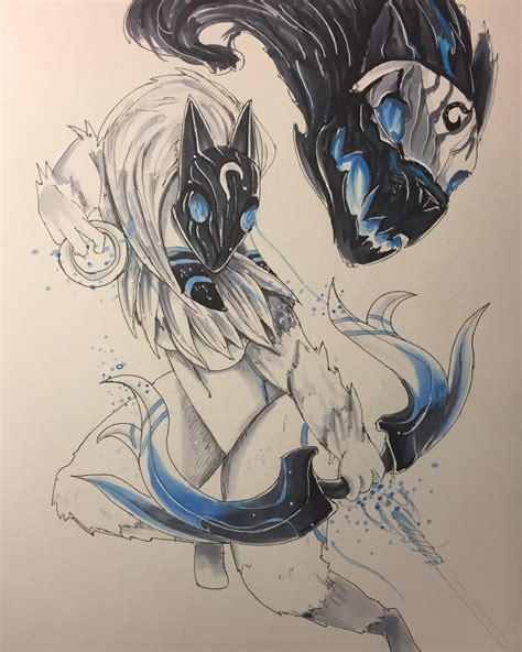 kindred fanart by lazercatt16 d9ms72b how2play