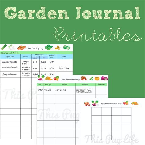 free printable vegetable garden planner garden journal printables updated journal gardens and