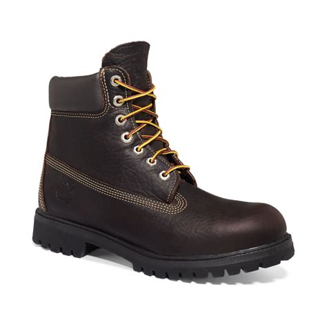 mens timberland premium boots timberland 6 premium waterproof boots in brown for