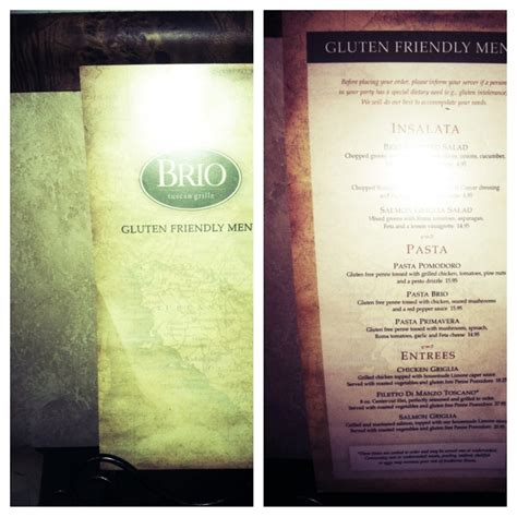 brio tuscan grille menu nutrition 1000 ideas about brio menu on pinterest