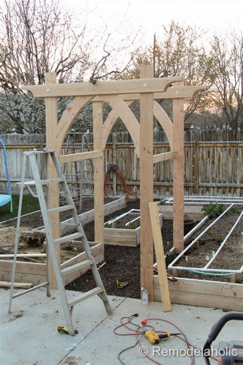 garden arch plans vegetable garden arbor diy plans gardens arches and wedding