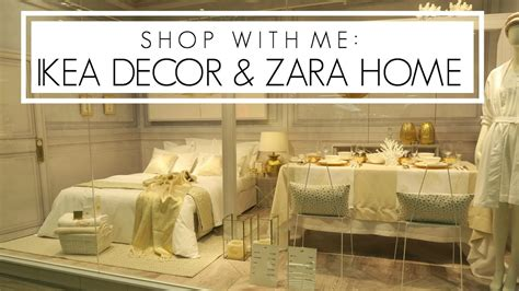 shopping for home furnishings home decor shop with me ikea decor zara home
