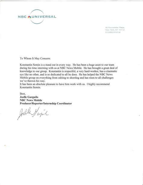 Recommendation Letter After Leaving Letter Of Recommendation Konstantin Syomin