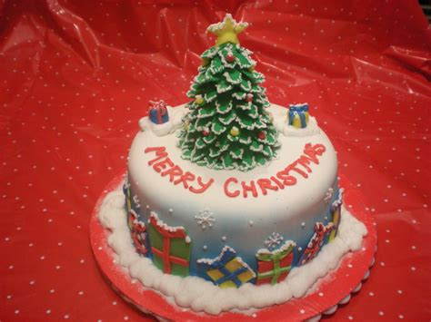 happy merry christmas tree cake picture