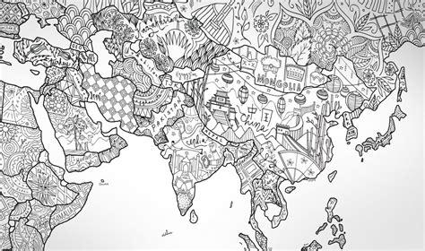 coloring map weltkarte zum ausmalen