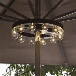 Patio Umbrellas With Led Lights Patio Umbrella Marquee Lights The Green