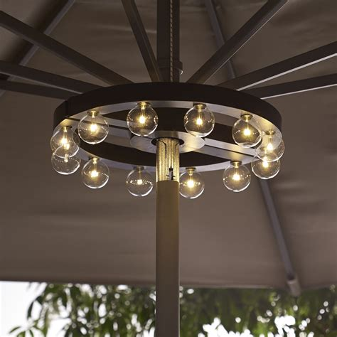 Patio Umbrellas With Lights Patio Umbrella Marquee Lights The Green