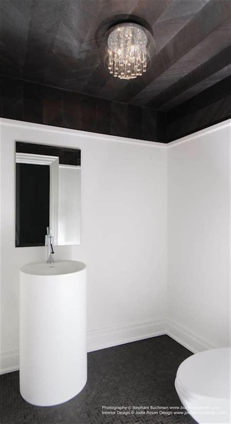 Black And White Tiled Bathrooms Herringbone Ceiling Contemporary Bathroom Stephani
