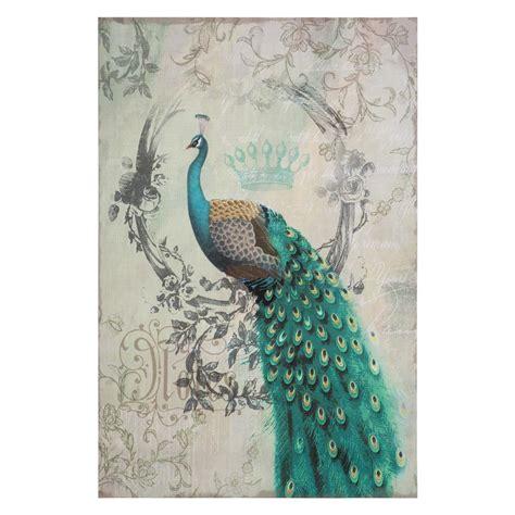 yosemite home decor 24 in x 24 in quot pure romance i quot hand yosemite home decor 35 in x 24 in quot peacock poise ii