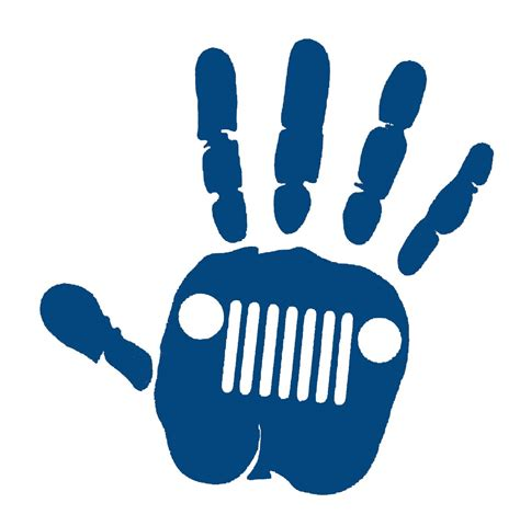 jeep wave stickers jeep wave decal blue color