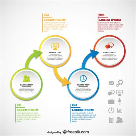 infographic flowchart template infographic template with shapes vector free