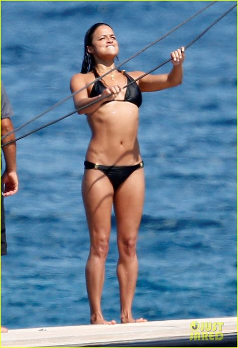 michelle rodriguez yacht michelle rodriguez soaks up the sun in a bikini does