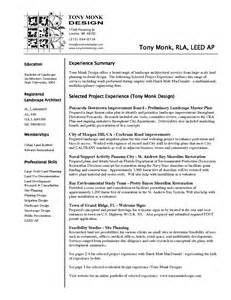 sle architect resume free sle architecture resume exle 100 images