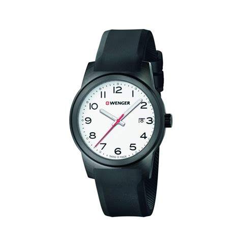 Swiss Army Sa0155 Black White Wenger Field S Swiss Army Black Silicone