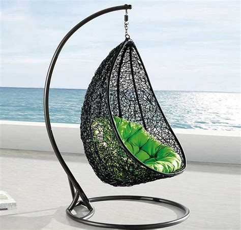 Deluxe tear drop cocoon swing chair