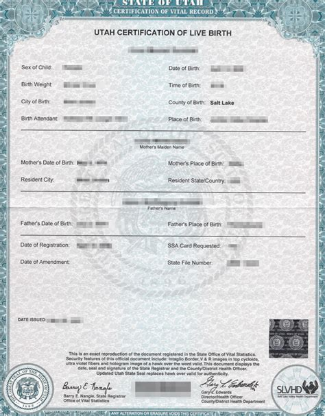 State Birth Records Utah Apostille Apostille Service By Apostille Net