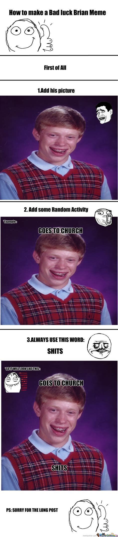 how to make bad luck brian meme by mrcornell meme center