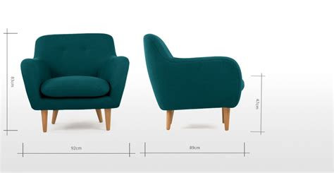 dylan armchair armchair mineral blue wood dylan made com