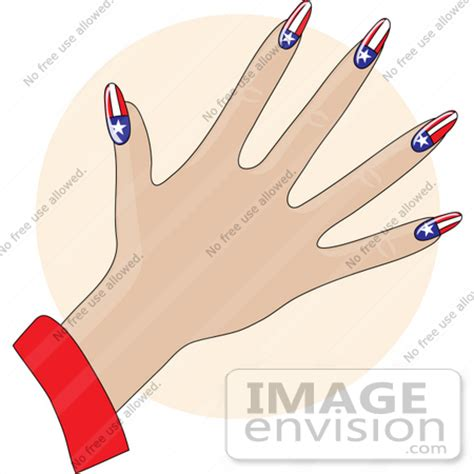 clip art graphic   ladys hand  stars  stripes