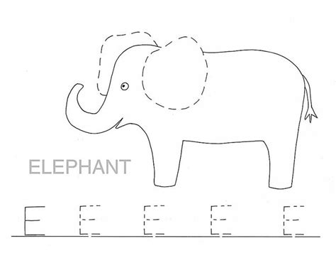 e elephant coloring page trace letter e for elephant coloring page trace letter e
