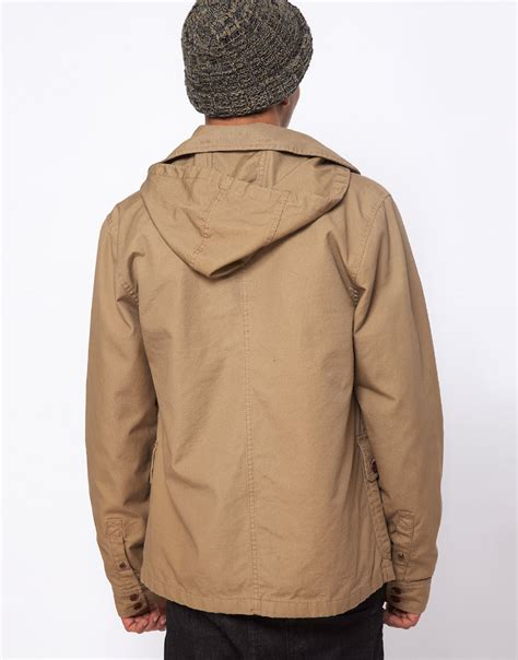Jaket Vans Jaket Motif Logo Navy lyst vans california jacket carlsbad detatchable hooded in brown for