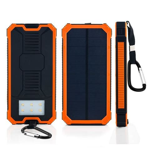 Power Bank Solar Waterproof solar mobile phone charger 12000mah dual usb waterproof