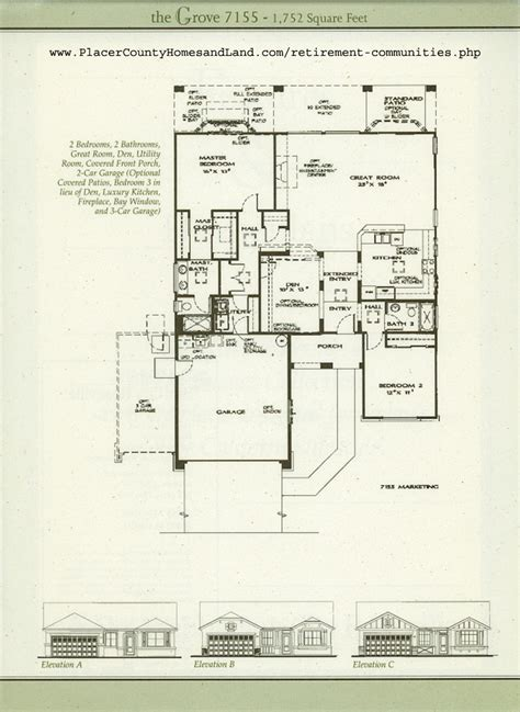 sun city floor plans sun city roseville floorplans