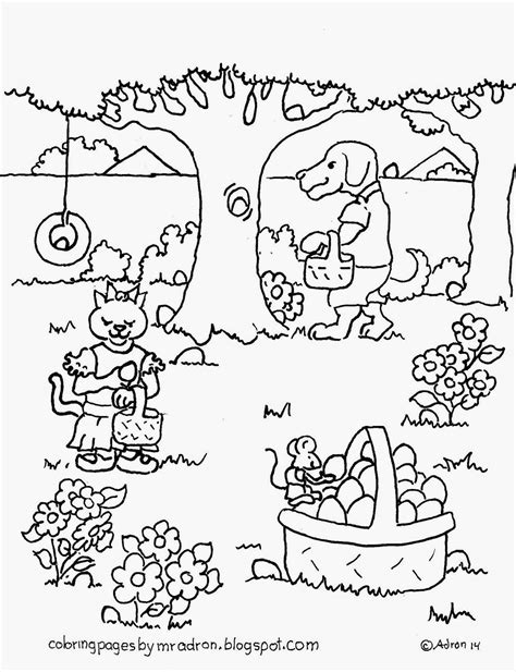 coloring pages easter egg hunt coloring pages for by mr adron animal s easter egg