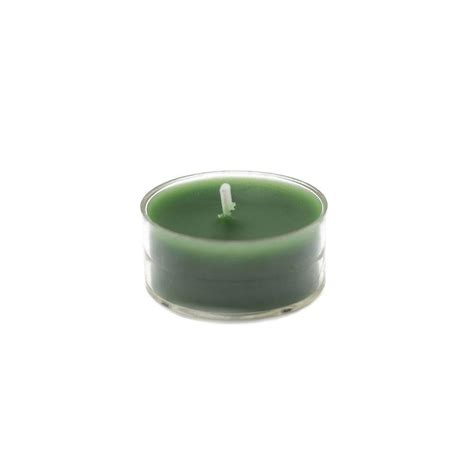 zest candle 1 5 in green tealight candles 50 pack ctz 015 the home depot