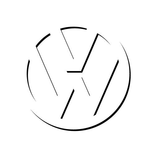 volkswagen logo black and white volkswagen vw logo png transparent svg vector freebie