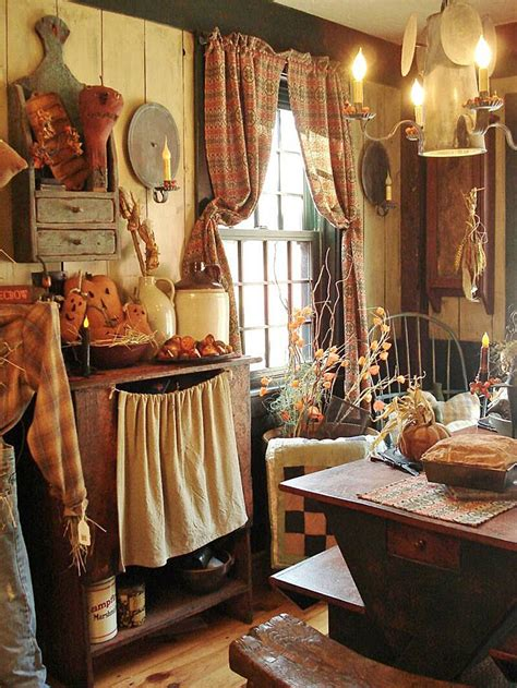 Primitive Country Kitchen Curtains 20 Inspiring Primitive Home Decor Exles Mostbeautifulthings