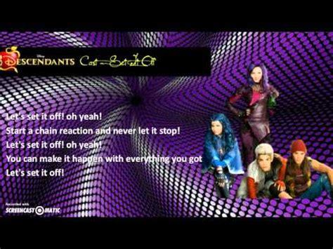 printable lyrics to rotten to the core descendants cast set it off lyrics video chords chordify