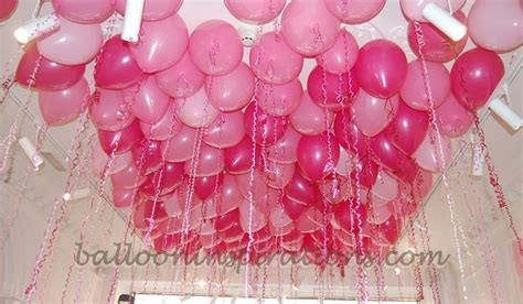 Easy Last Minute Decor Balloon Ceiling by Fill The Room With Balloons Meant To Do This For Ellie S
