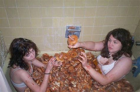 girl in a bathtub girls donuts and a bathtub wtf lmao