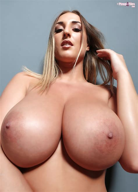 European Big Tit Model Stacey Poole Flaunting Hooters In