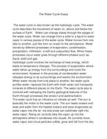 Importance Of Water Essay by Importance Of Water Conservation Essay