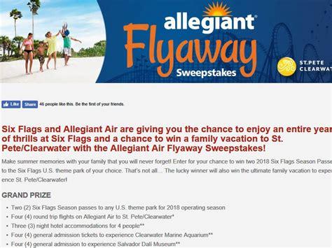 allegiant air flyaway sweepstakes - Allegiant Air Sweepstakes