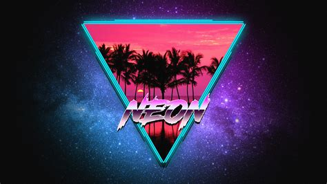neon synthwave retrowave art wallpapers wallpapers hd