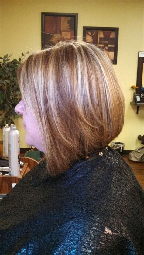 long choppy layered hairstyles inverted bob side view long layered inverted bob and foils by me