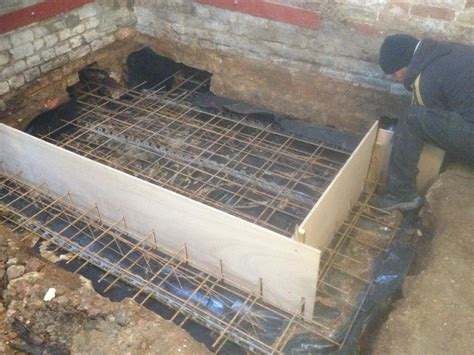 Garage Conversion Floor Construction by High Br Unwin Brickwork Building