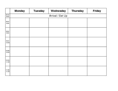 blank calendar monday to friday new calendar template site