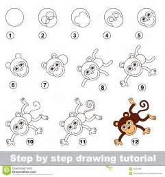 drawings monkeys step step kids coloring europe travel guides