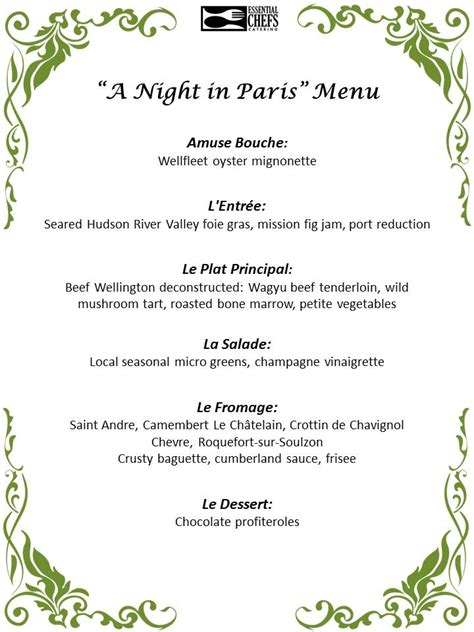 menu ideas for dinner plated dinner essential chefs catering