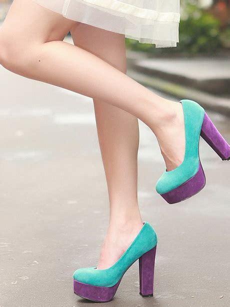 Sandal Wanita A09 Block Heel Pumps Black Hitam chunky heel shoes