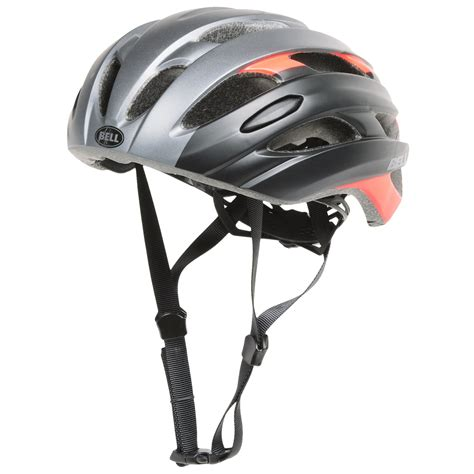 Helm Sepeda Aerogo Gloss Titantium bell event road bike helmet for and save 53