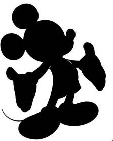 Mickey Mouse Silhouette Template by Mickey Mouse Silhouette Clipart Best