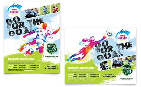 Youth Soccer Poster Template Word Publisher Sports Graphic Design Templates